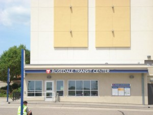 roseville transit station, roseville mn, north east twin cities mn