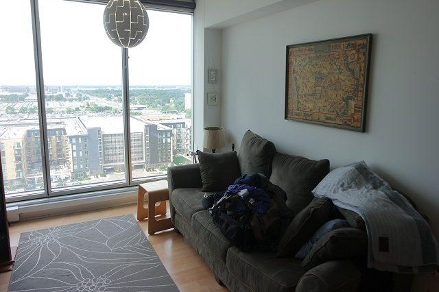bloomington condominium living room