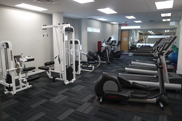 bloomington condominium fitness room