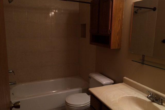 maple grove townhome rental bathroom