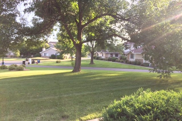 maple grove townhome rental side yard