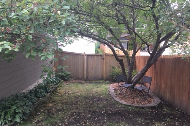 st. louis park rental fenced yard