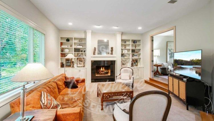 Edina home rental gas fireplace