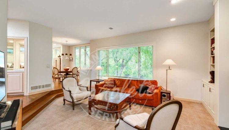 Edina home rental large windows