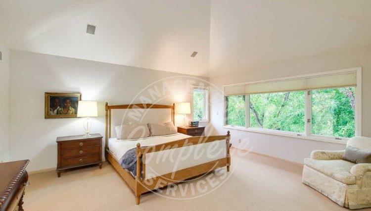 Edina home rental bedroom