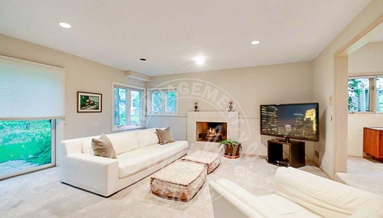 Edina home rental fireplace