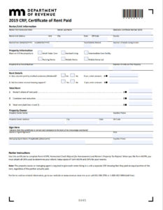 MN CRP 2019 Form